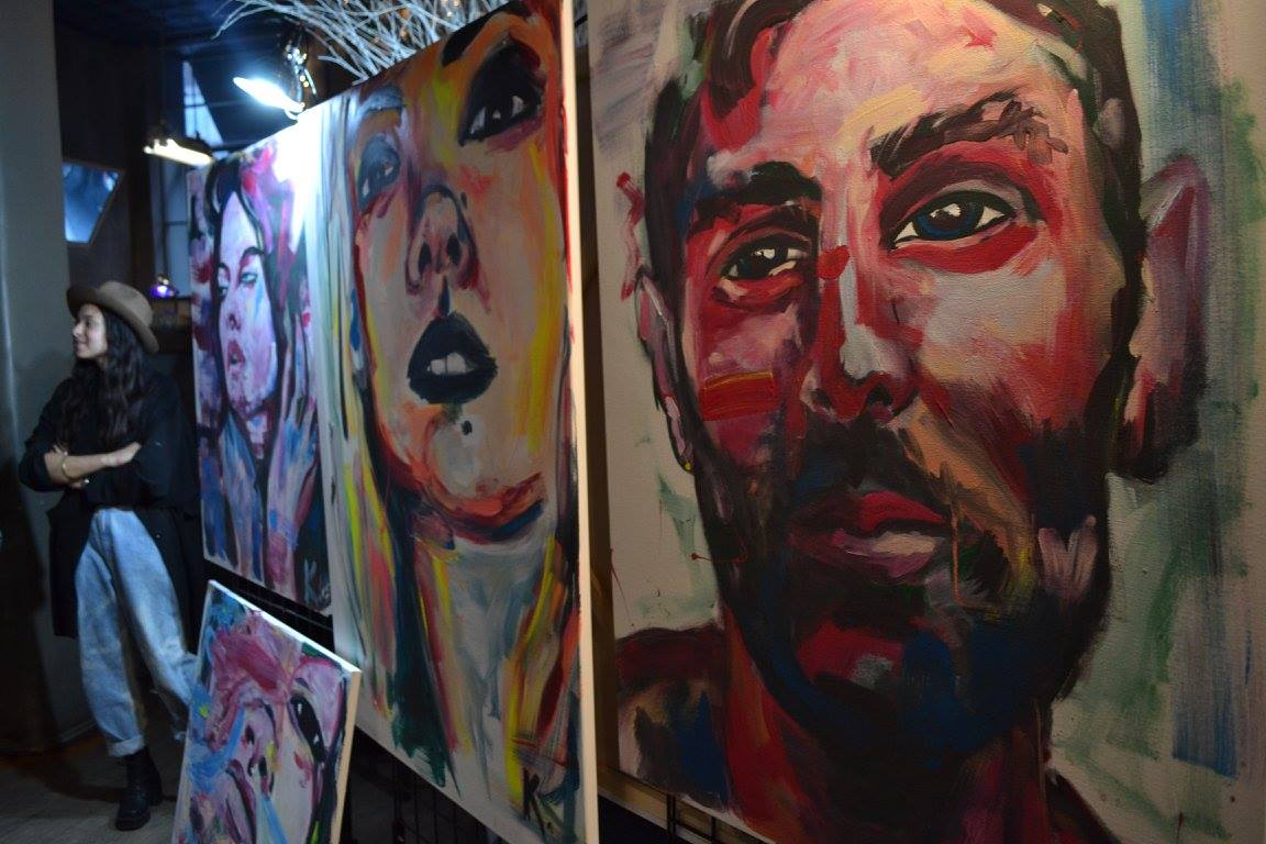 Artist Keli Lucas and her portraits