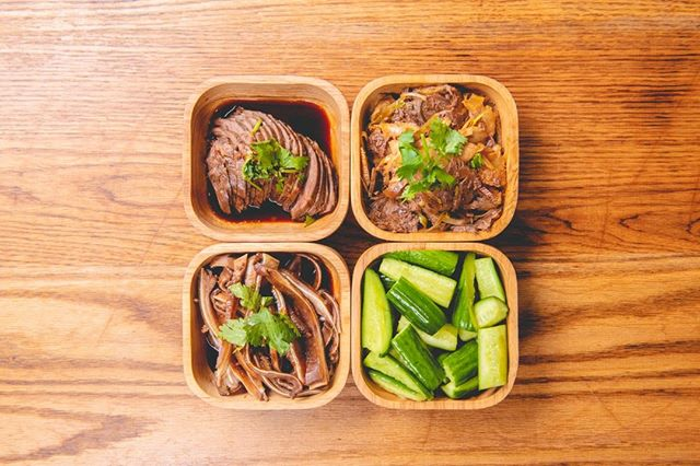 This is a hot summer and you want to try some our cold dish - marinated pig ears, cucumber salad, marinated sliced beef, sliced beef & tripe in chili sauce. @kungfukitchennyc  #michelinguide #colddish #appetizer . . . #yum  #chineserestaurant #feedyoursoul #streetfood #fooddelivery #lunch #foodpornshare #dinner #food #foodporn #foodiegram #instafood #yummy #instagood #handmade #tasty #foodie #eat #foodpics #foodphotography #hungry #lovefood  #nyc #nycfood #nycfoodie #timesquare