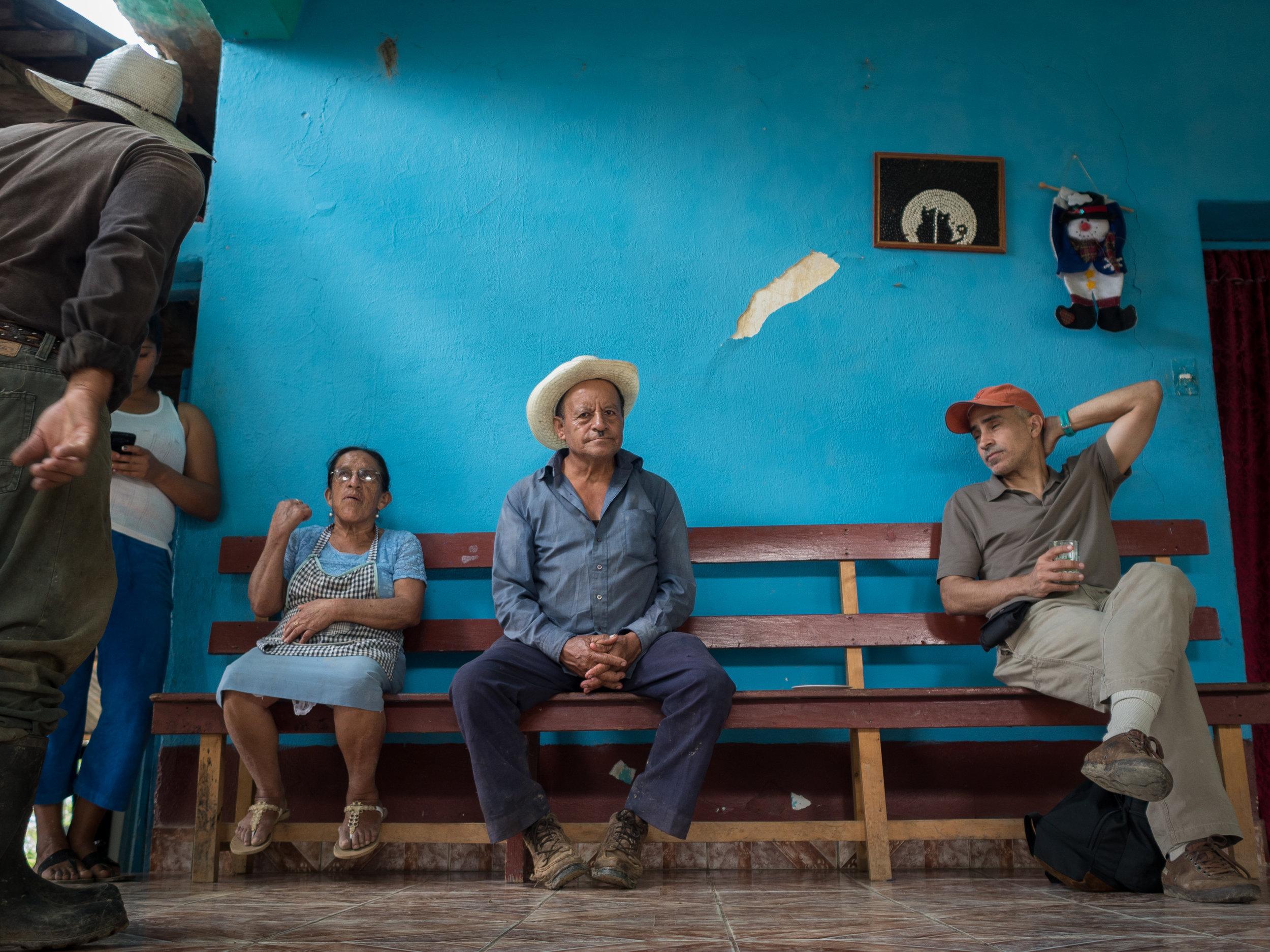 From left to right: Alicia Lopez Castillo, Jose Cupertino Lopez, Anton Flores