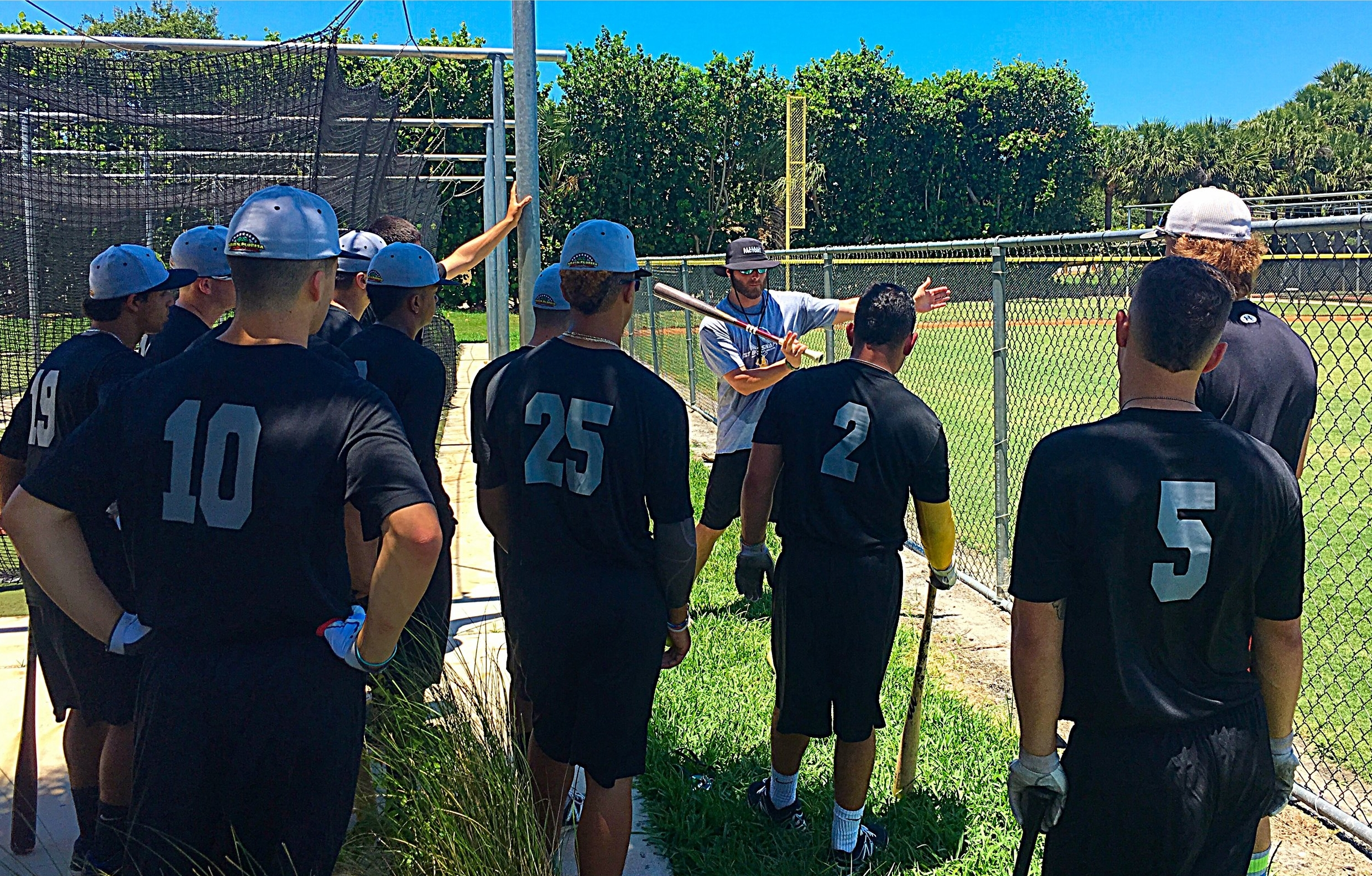 coach ross's hitting instruction with our college guys