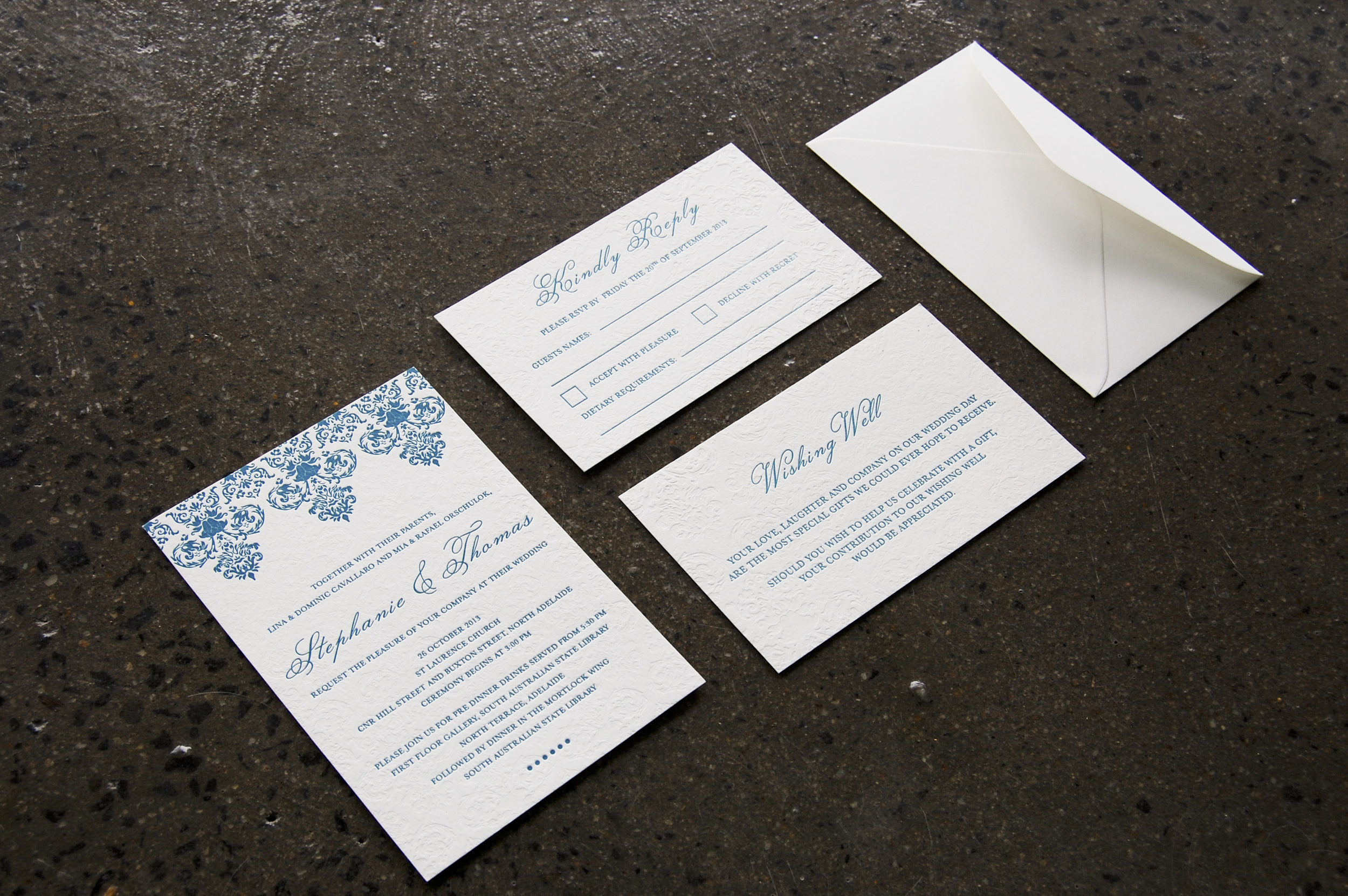 Baroque & Blind {Letterpress}