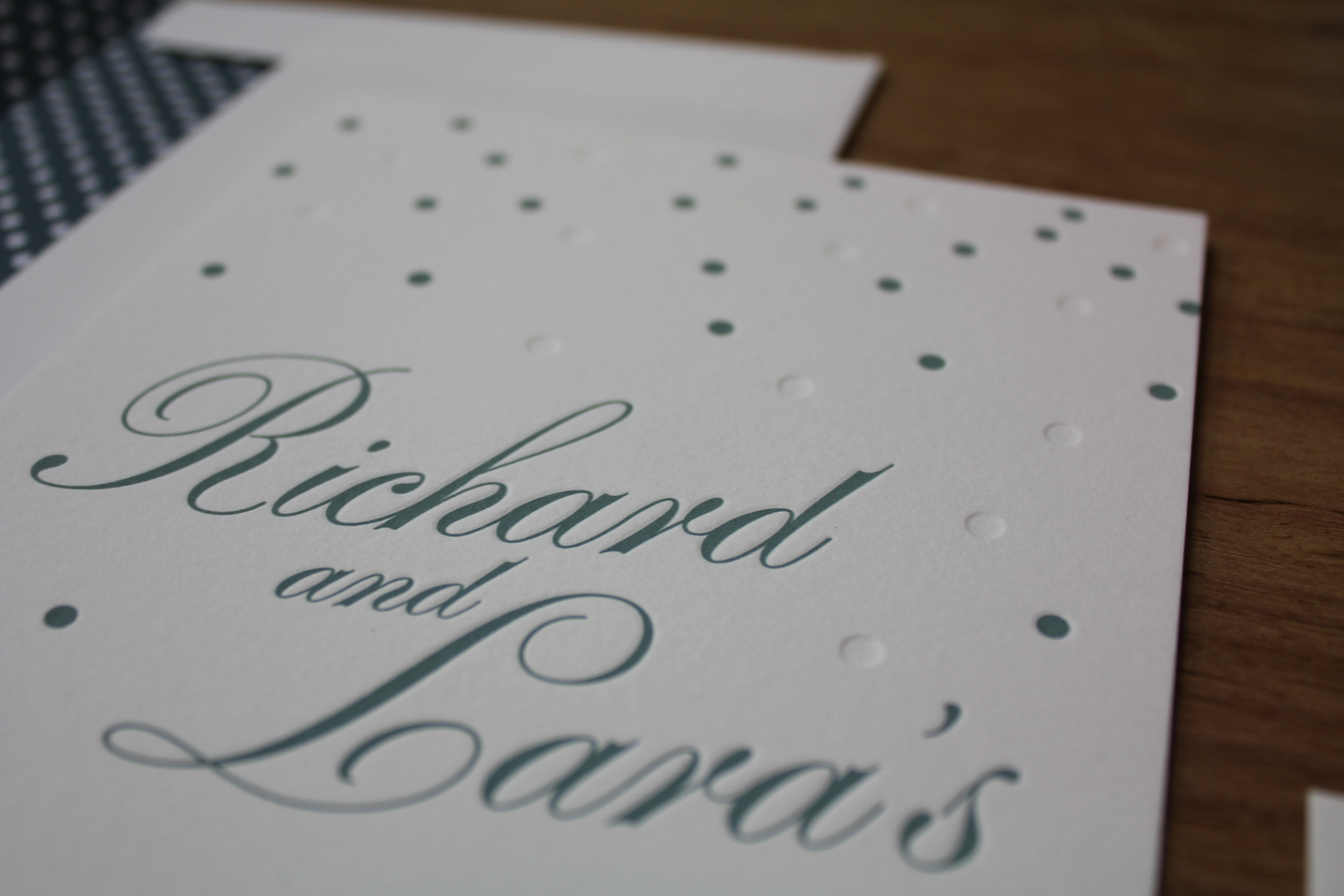 Blind & Polka Dots {Letterpress}