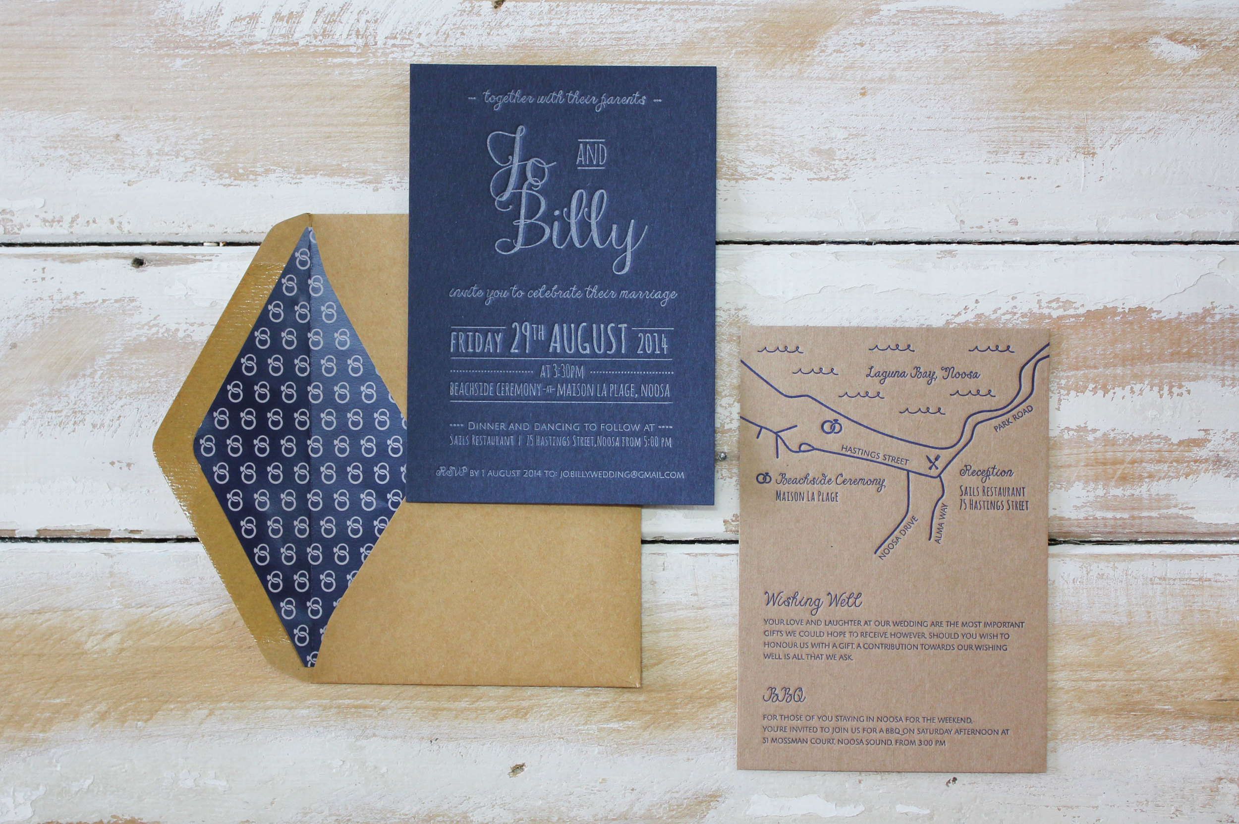 Fun & Nautical Navy {Letterpress}