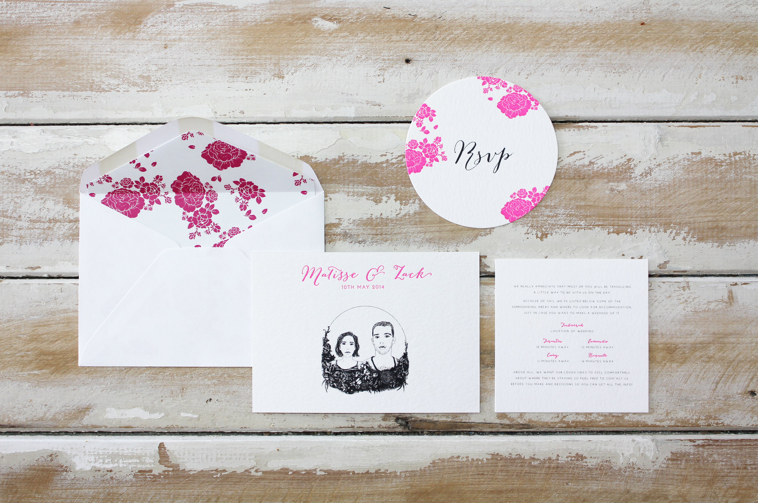 Hot Pink Portrait {Letterpress}
