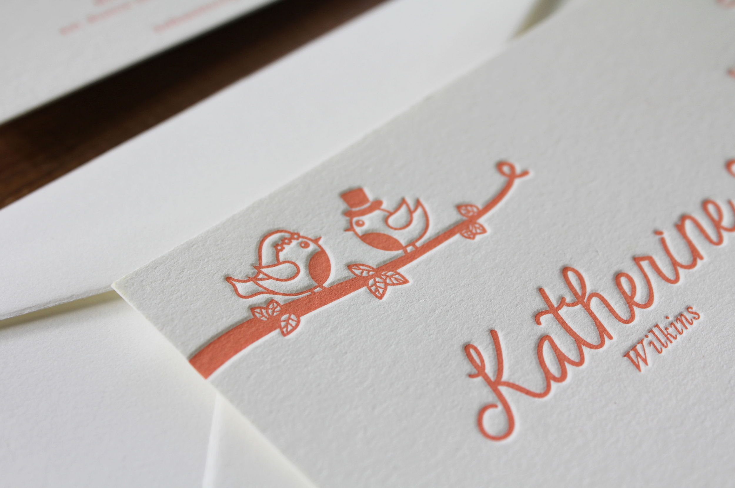 Love Birds & Floral {Letterpress}