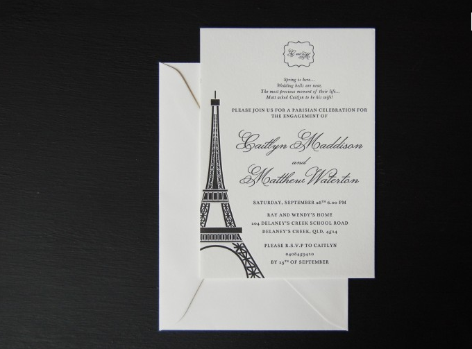 Paris Proposal {Letterpress}
