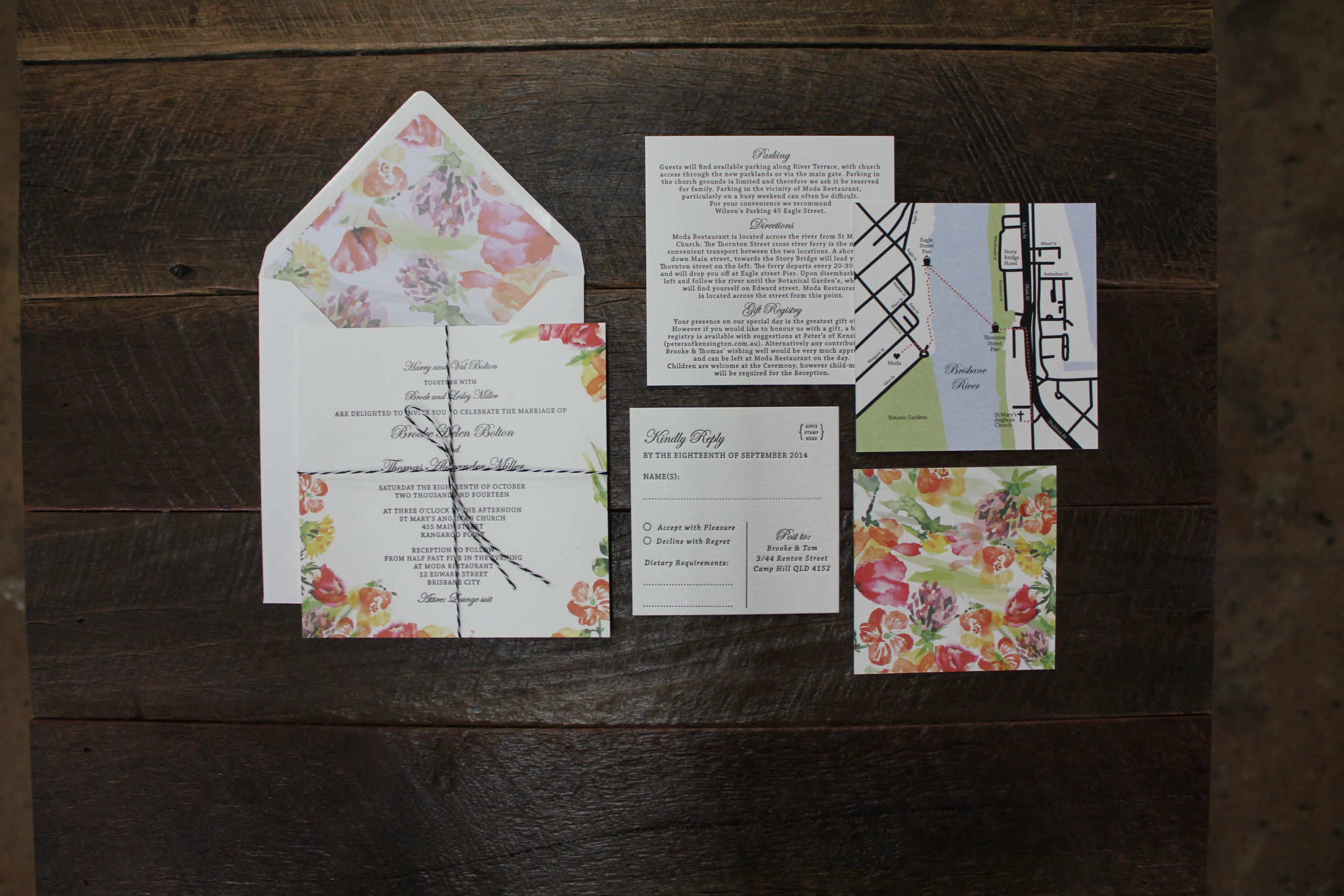 Watercolour Flowers {Letterpress}