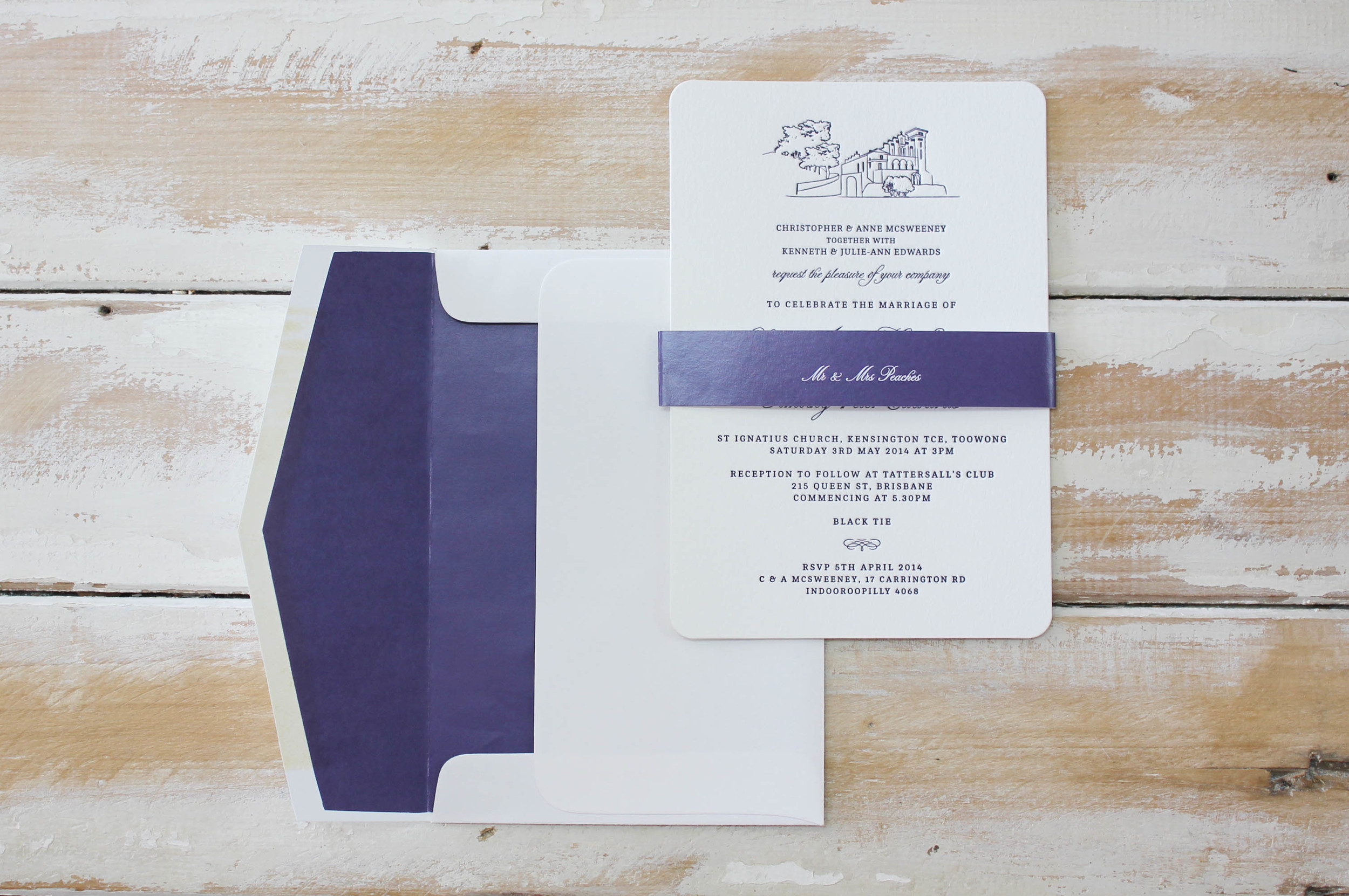 Royal Purple Illustration {Letterpress}