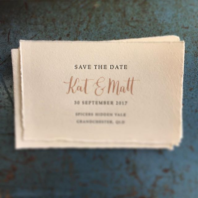 We loved working with this amazing paper from Magnani Papers to create these smart Save the Date cards. Letterpress printed charcoal with the bride and grooms name written in calligraphy on each card. #letterpress #calligraphy #savethedate #wedding #weddinginvitations @jamesmagnani @chasethesuncreative