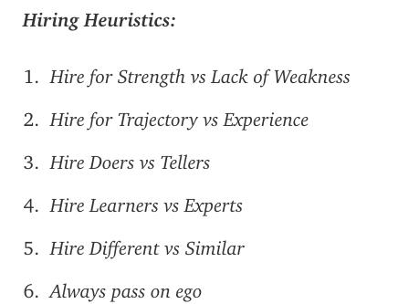 Henry Ward's hiring principles.