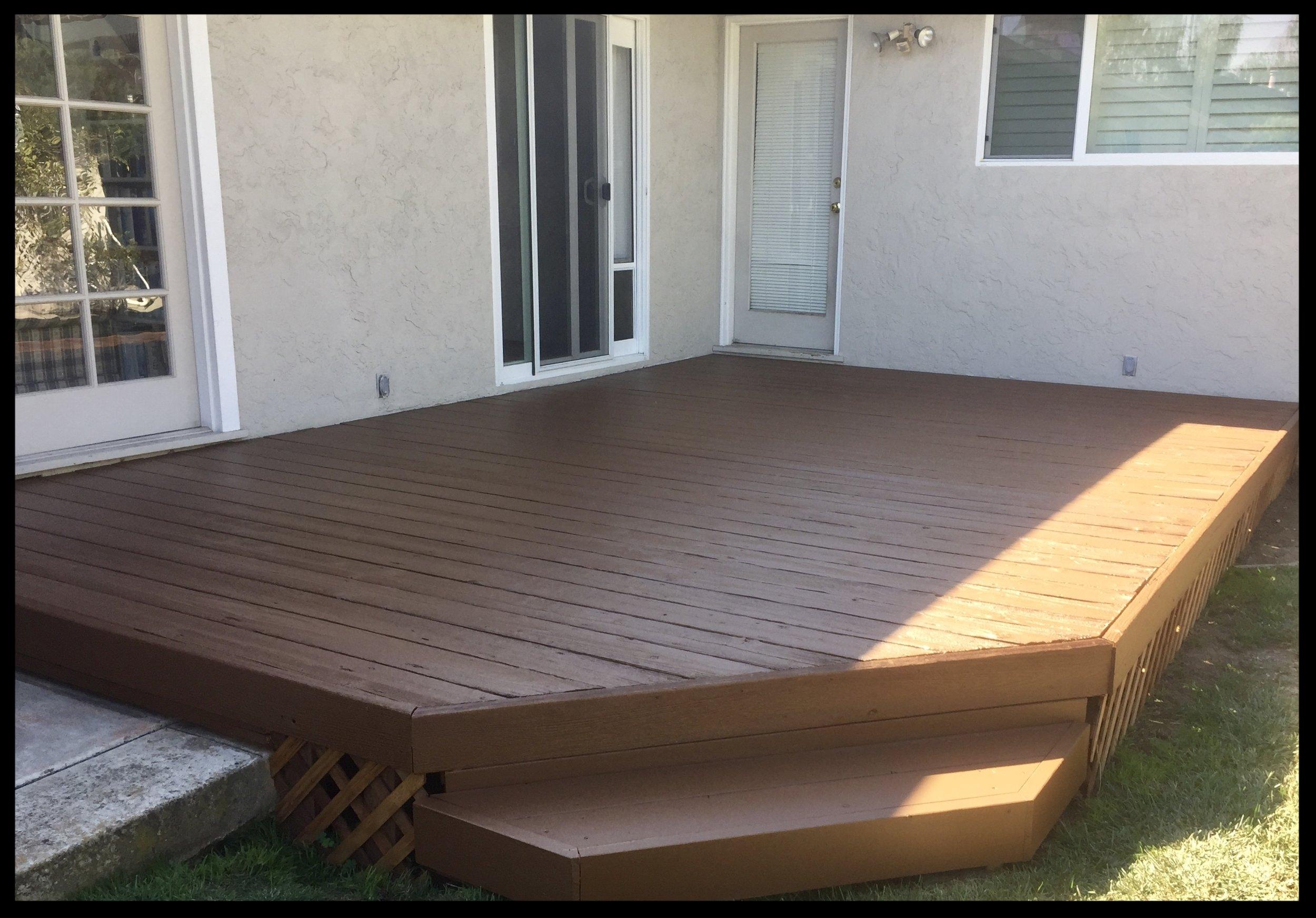Deck Refinish in Santa Cruz