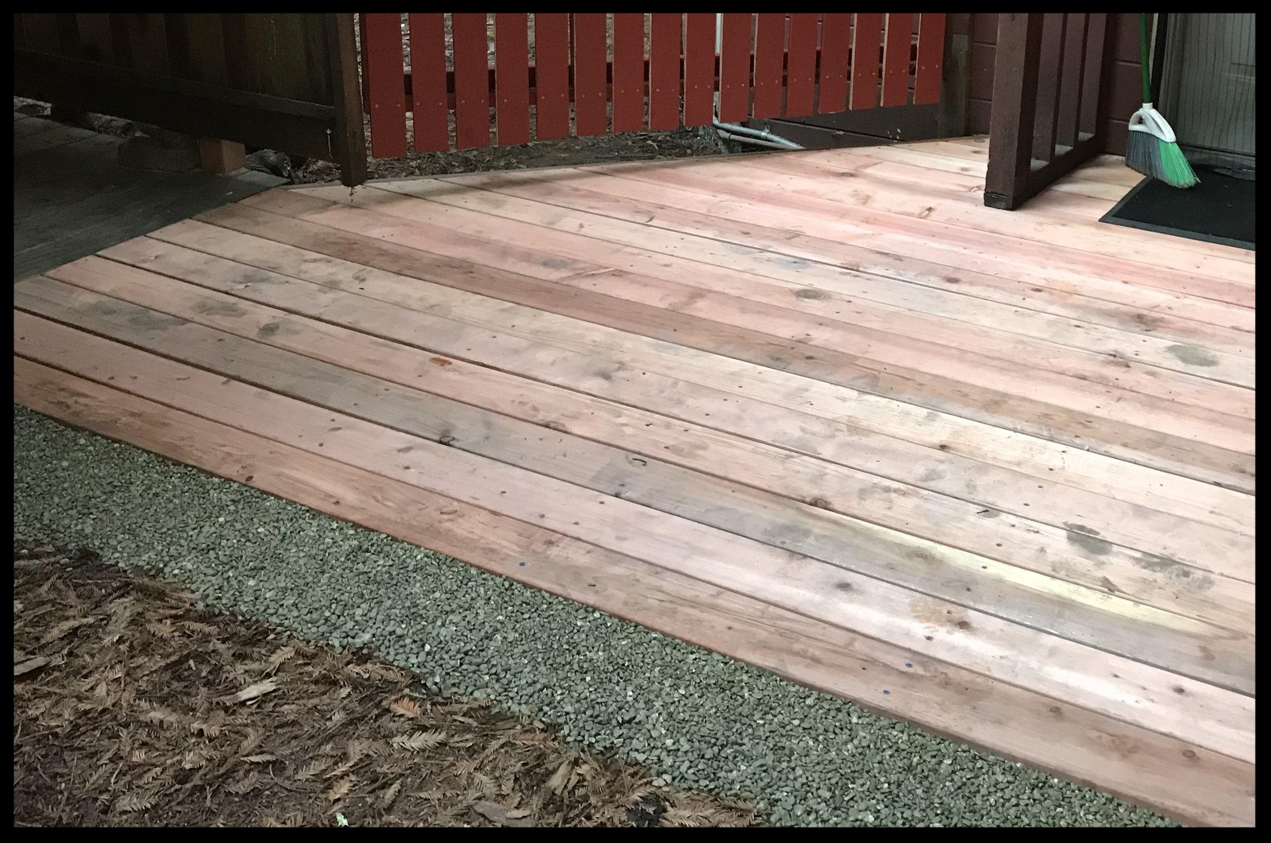 Remodelled Redwood Deck in Santa Cruz