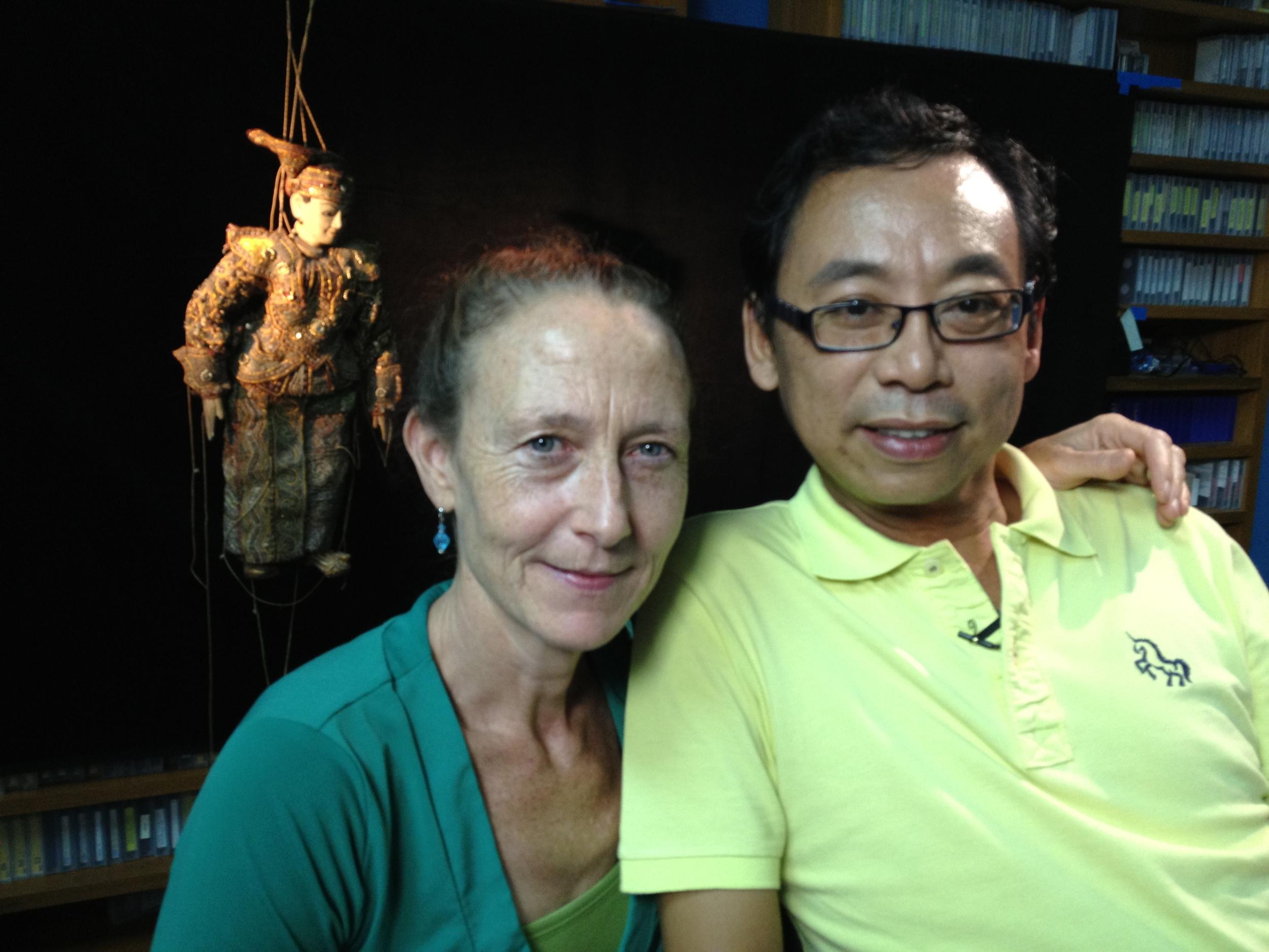 Director Jeanne Hallacy and Aung Myo Min