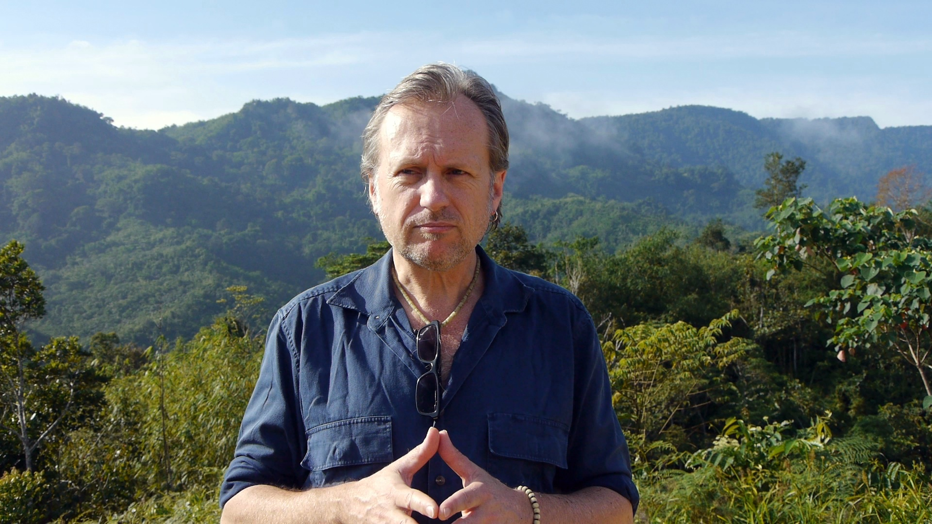 Director Andrew Garton on location, Upper Bengoh.