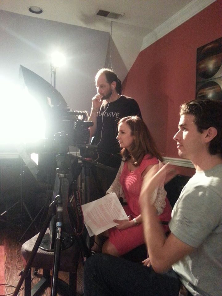 DOP Paolo Soto and Directors Andrea Kalin and Oliver Lukacs.