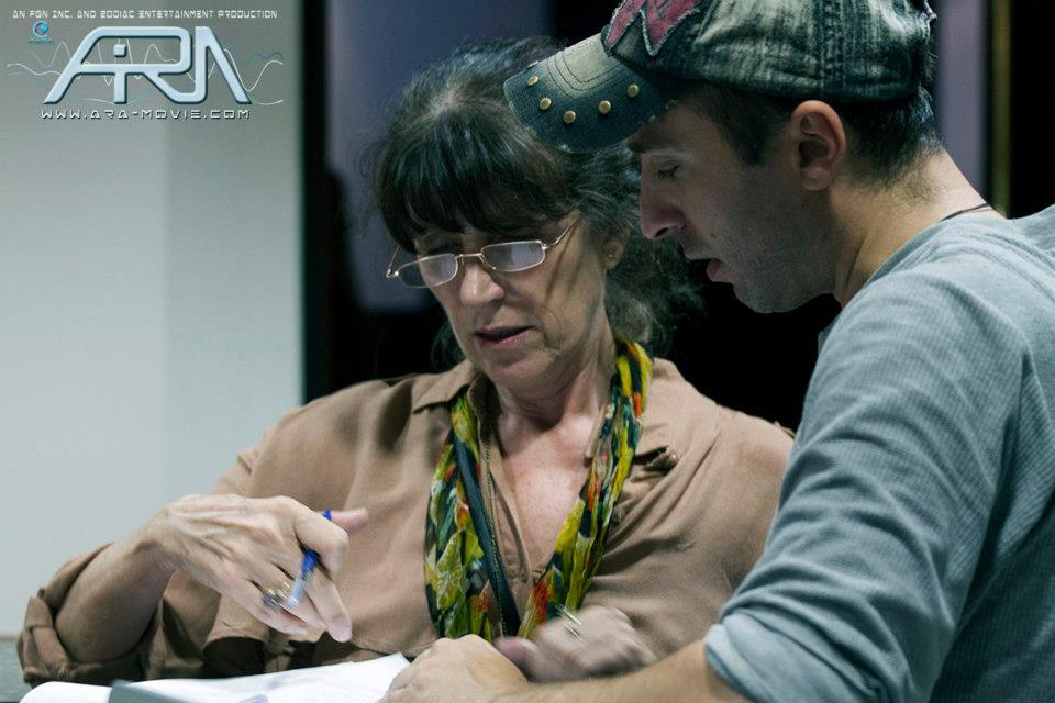 Production Still: Producer - Jacqui Gilbert (left) and Director - Dimi Nakov (right)   Photo Credit: Ida Larsson