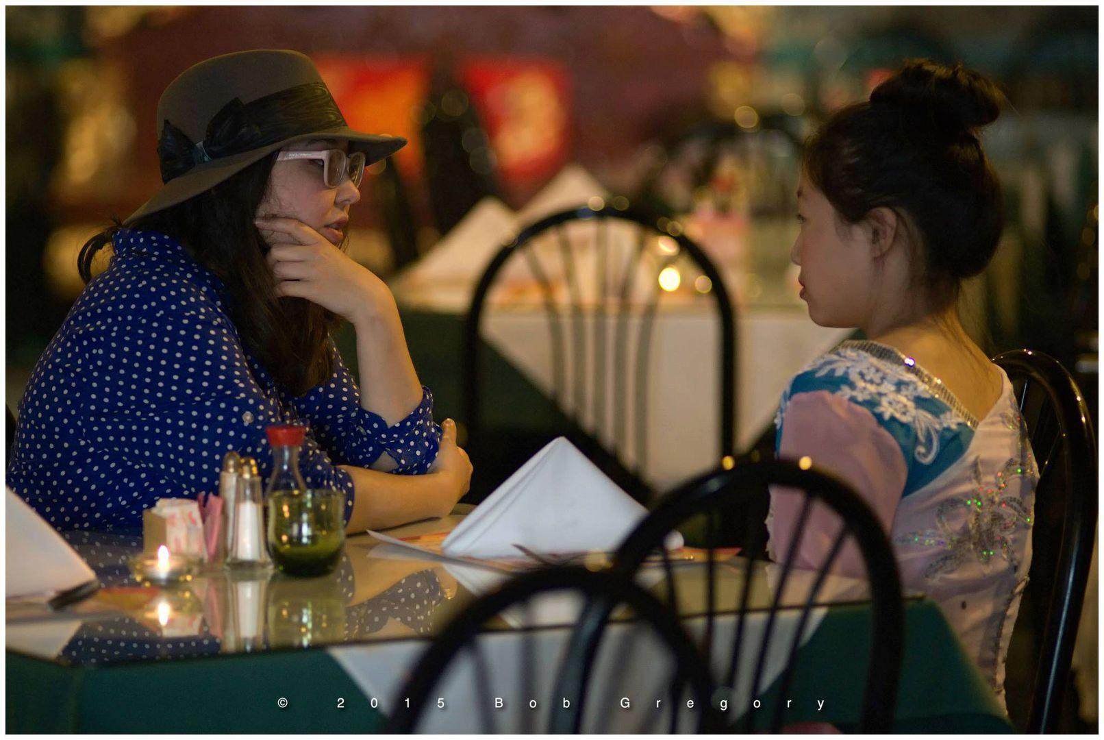 Parting director  Sitora Takanaev and Megan Lin.