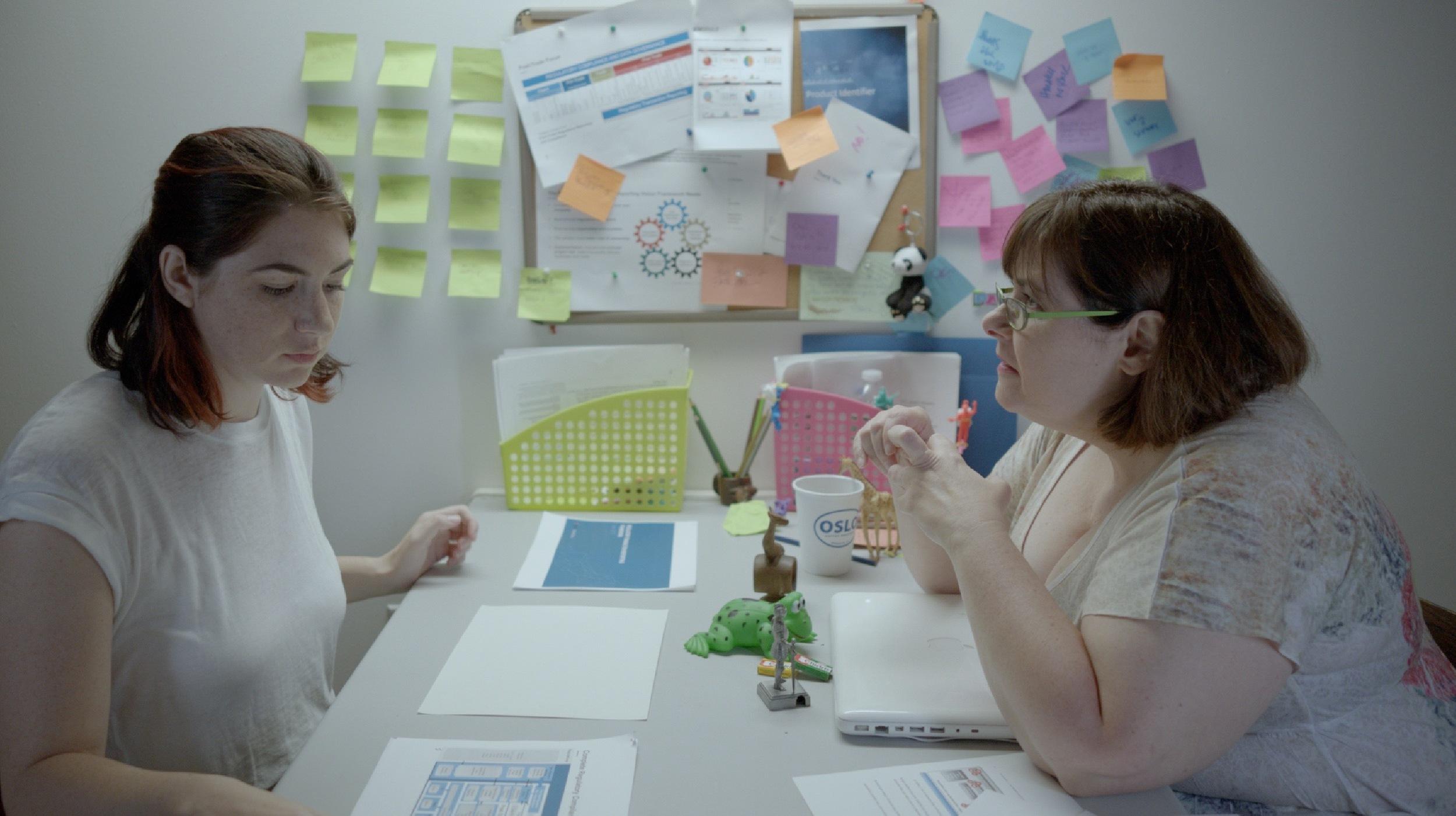 Freckles - Actors Jenn Halweil and Jane Dashow.
