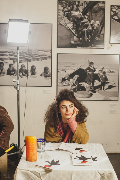 I Say Dust Director Darine Hotait on set.