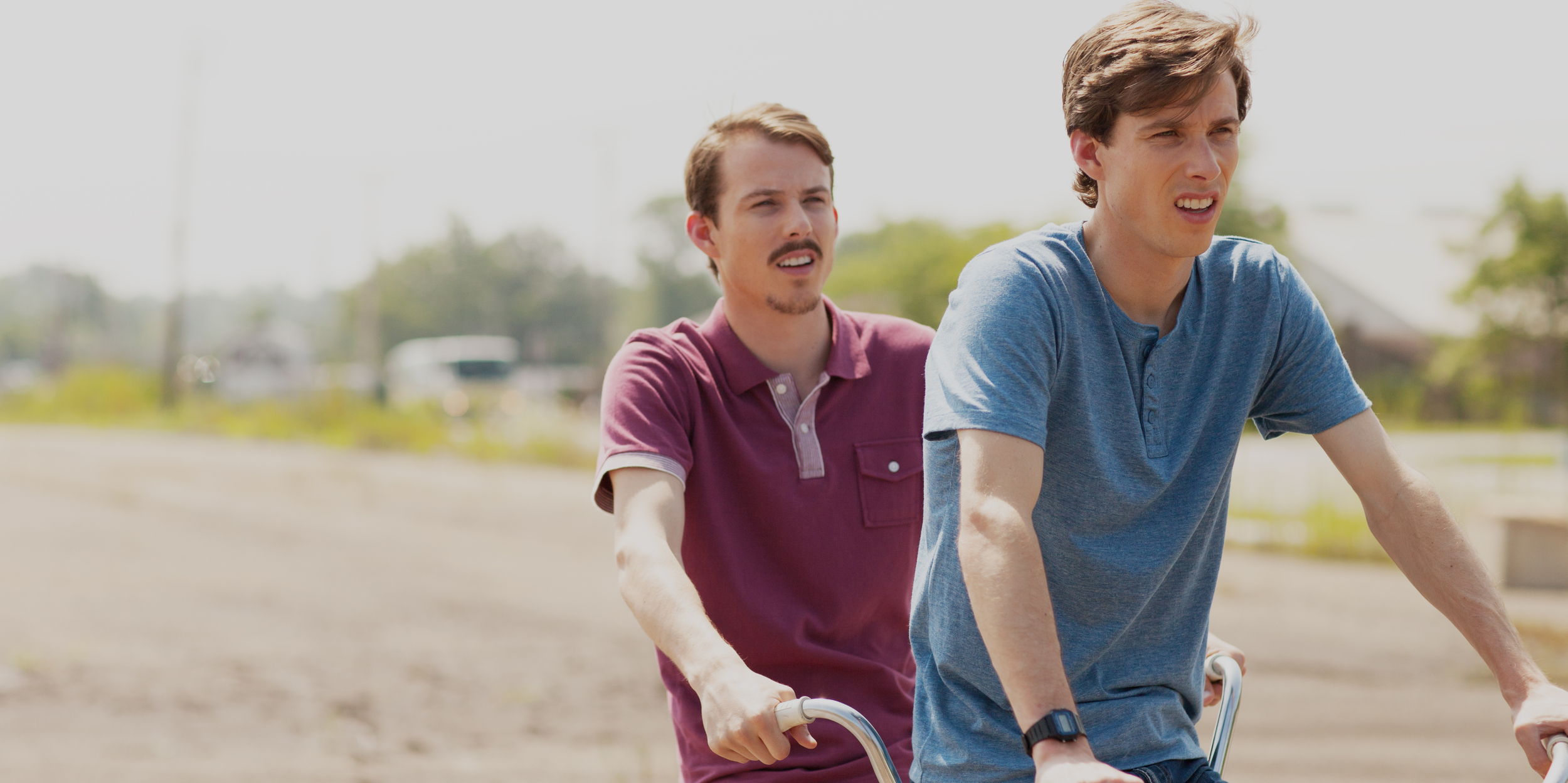 Phil Garrity and Joe Garrity ride the famed tandem bicycle in TWINSBURG (2016).
