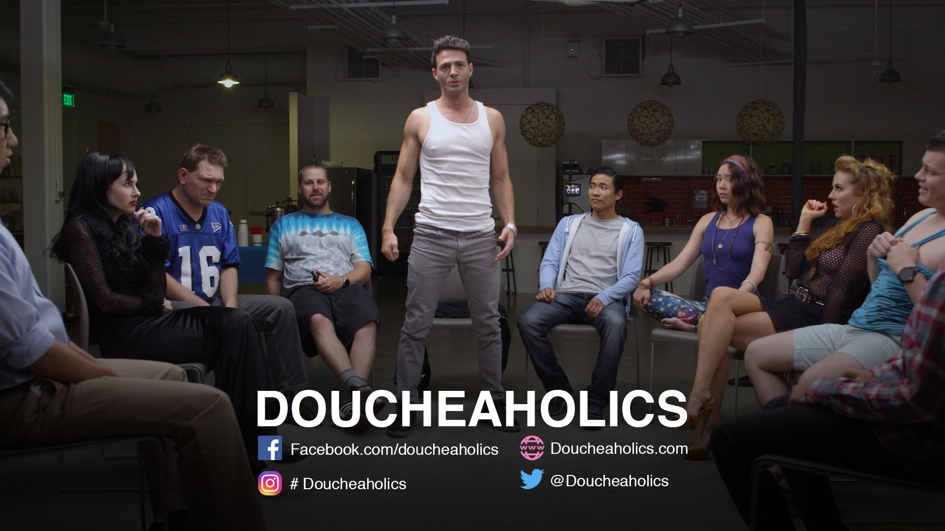 Doucheaholics, a new series from Guerilla Wanderers Films and co-creators Elizabeth Mitchell and Sean McCarthy.