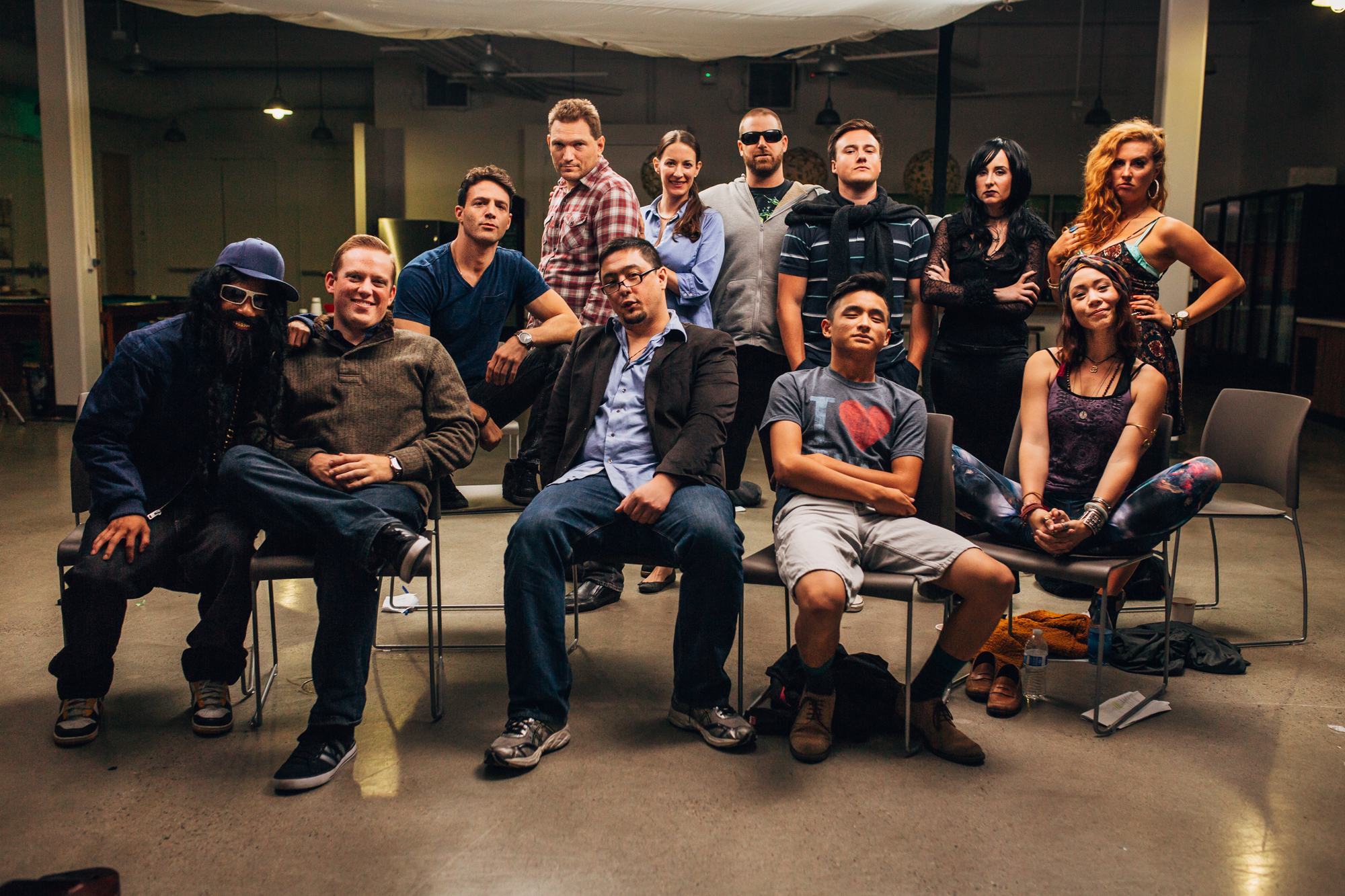 The Doucheaholics (from left to right): Mark Sho, Sean O'hare, Anthony Marks, Mitch Costanza, Sean McCarthy, Jenn Tripp, Jared Forman, Spencer Greene, Justin Tran, Elizabeth Mitchell, Syra McCarthy and Ashley Sullivan.