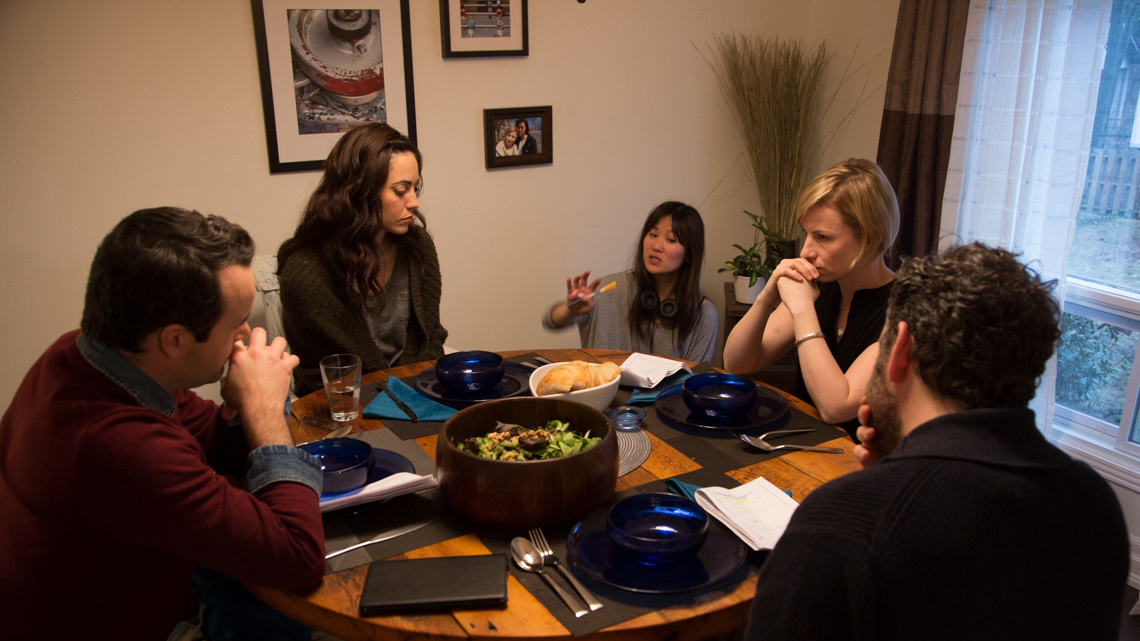 Benjamin - Director Sherren Lee with cast, Jean-Michel Le Gal, Kimberly Laferriere, Joanne Boland and Jimi Shlag.