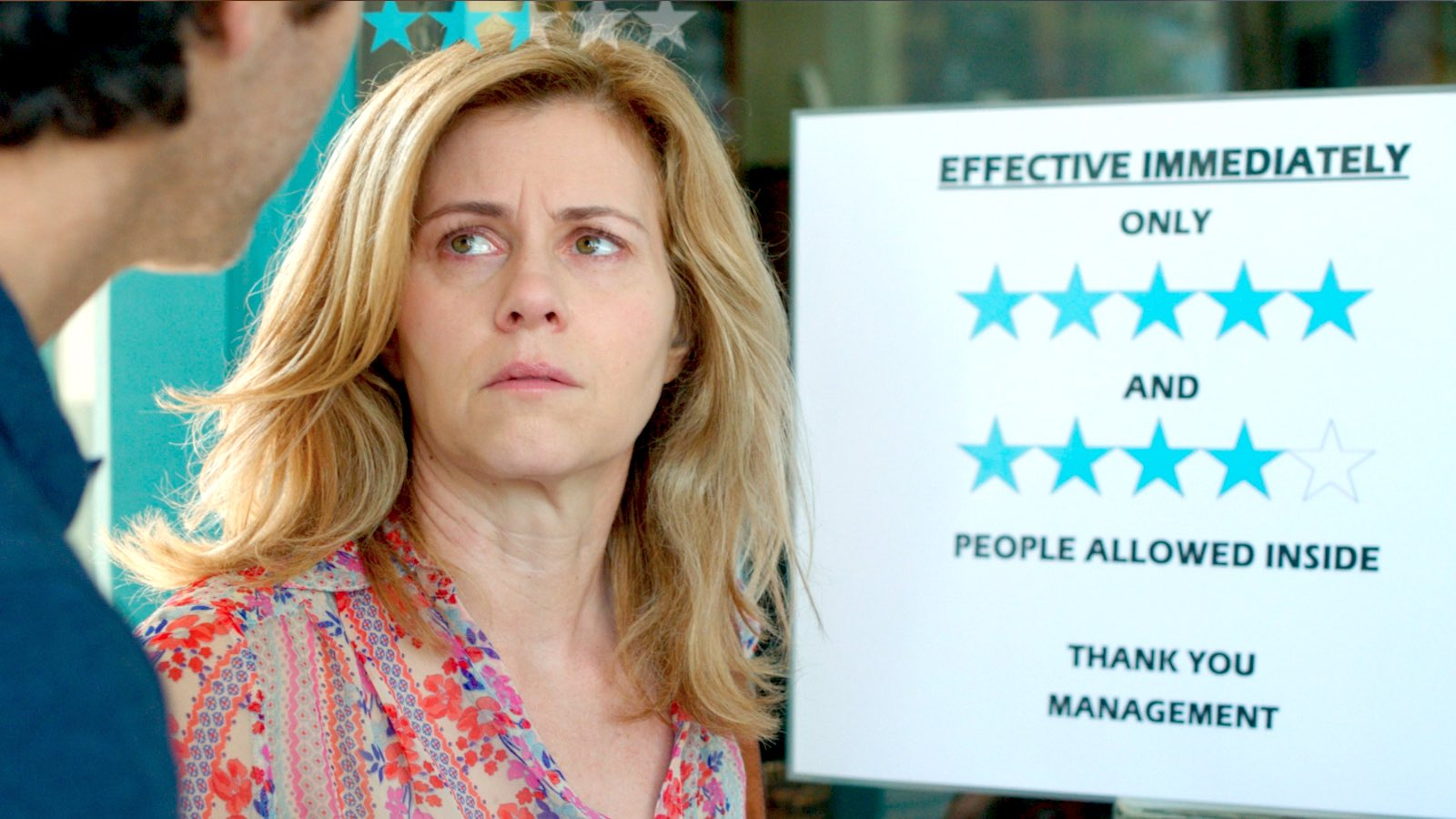 RATED: Maggie, Actor Christie Lynn Smith, discovers there's a new policy at her favorite restaurant.