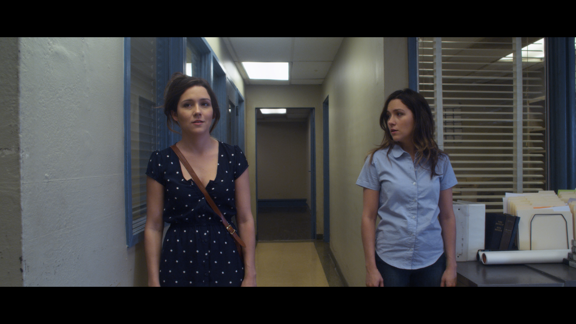 You Me & Her - Anna and Anna #2 arrive at the Department of Parallel Resettlement.