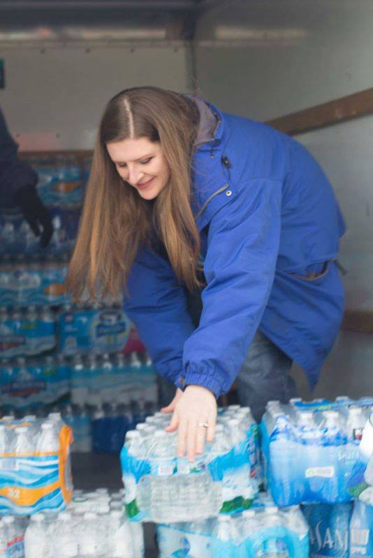 Local Flint resident and outspoken activist, Melissa Mays helps bring water to a women's shelter in Flint with the help of her organization, Water You Fighting For. Melissa remains at the forefront of the battle for clean water.