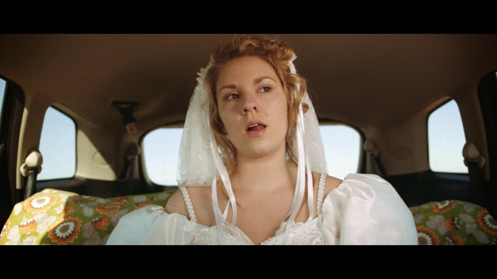 The Happiest Day of my Life - From the backseat Becky (Jeni Bezuidenhout) considers her newfound 'friends'.