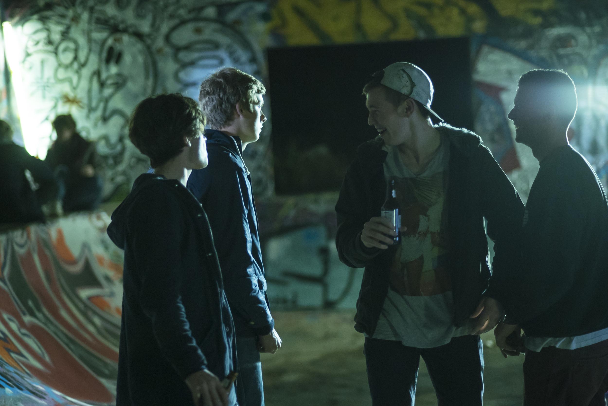 Headlight - Scene in the skate bowl.