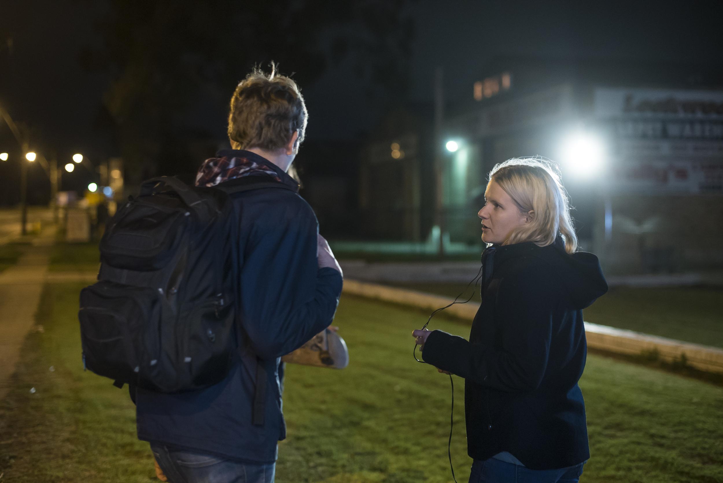 Headlight - Daniel Kay and Writer/Director Petrice Graham behind the scenes.