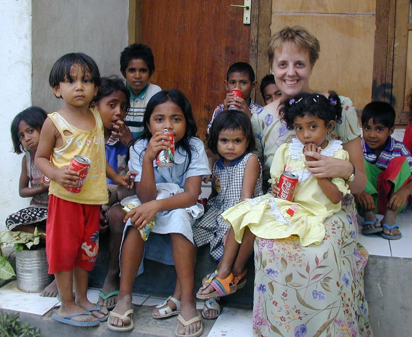 Carmela Baranowska in East Timor, 2000.