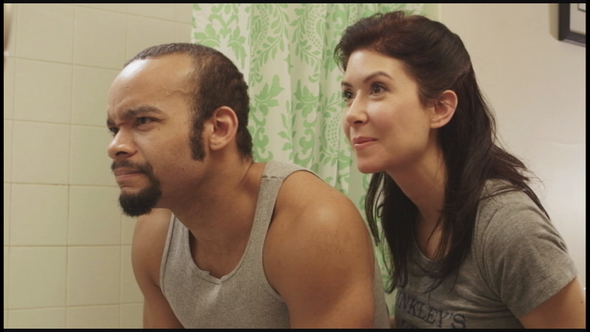 Breakfast in Bed - Marvin (LeMar McLean) and Brooke (Kate Chamuris) get ready for a night out.