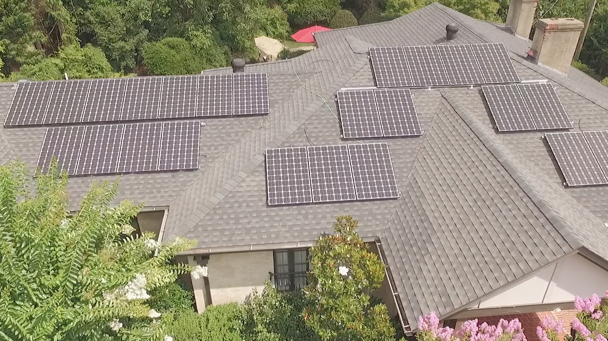 On the Horizon – A new solar system is installed on the home of a Birmingham resident.