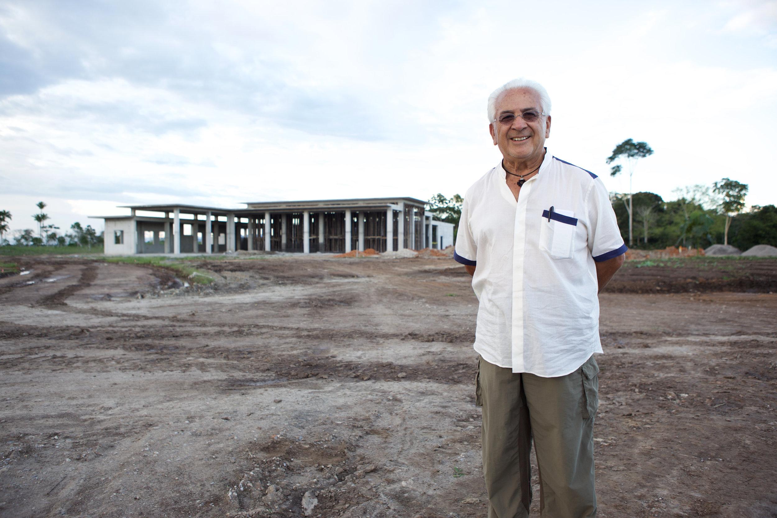 "Dr. Luis Vasquez at Yantlao, Peru hospital construction site. ""Mortality of Dreams""documentary.Photo Credit: Josh Gibson"
