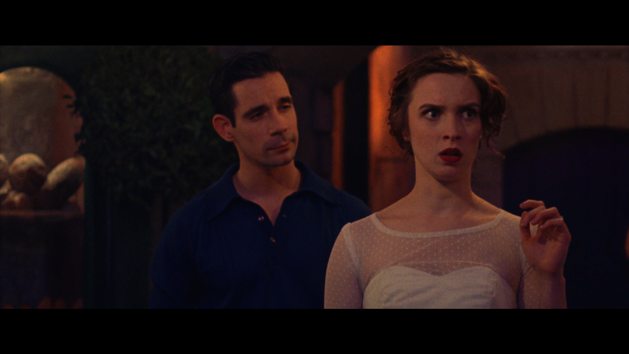 Emily (Sarah Swire) suddenly finds herself in Paris with the charming Gene (Dan Burton).