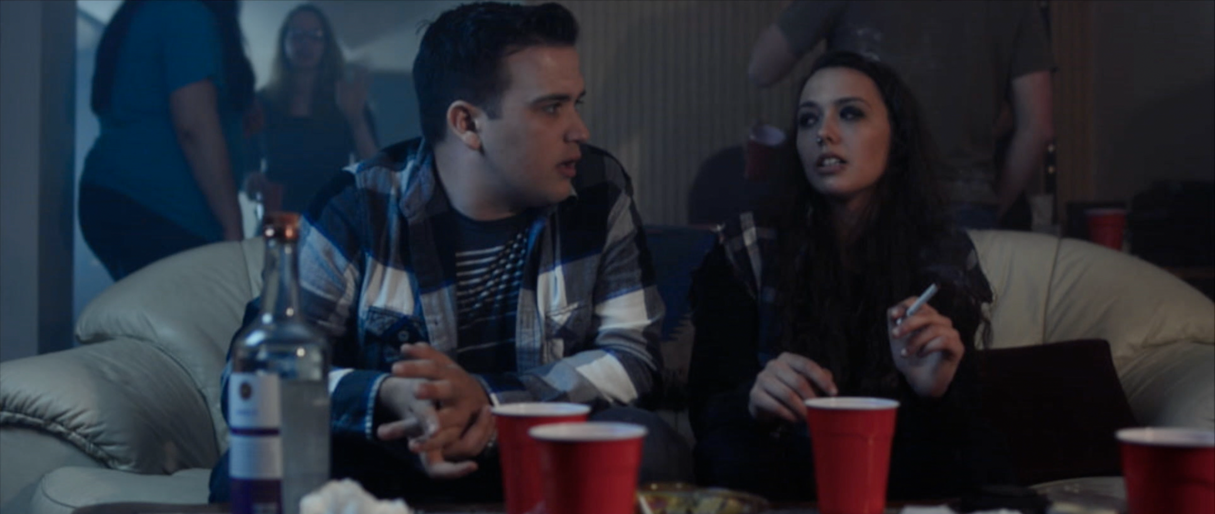 Kat Vallair (Claire Arble) introduces Eli Johnson (Nick Earl) to his new coping method in  Sincerely, Me.