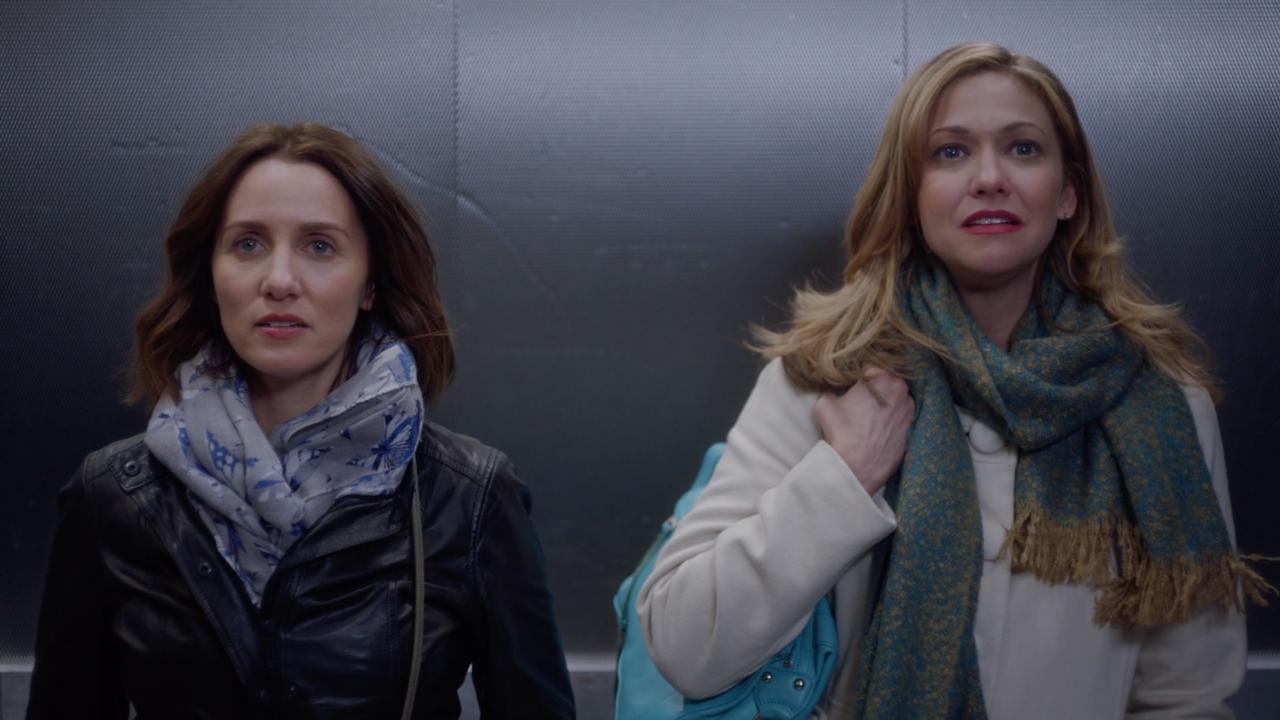 Tricia Paoluccio as Kat and Ursula Abbott as Handbag in Kate Phelan's VISIT 57