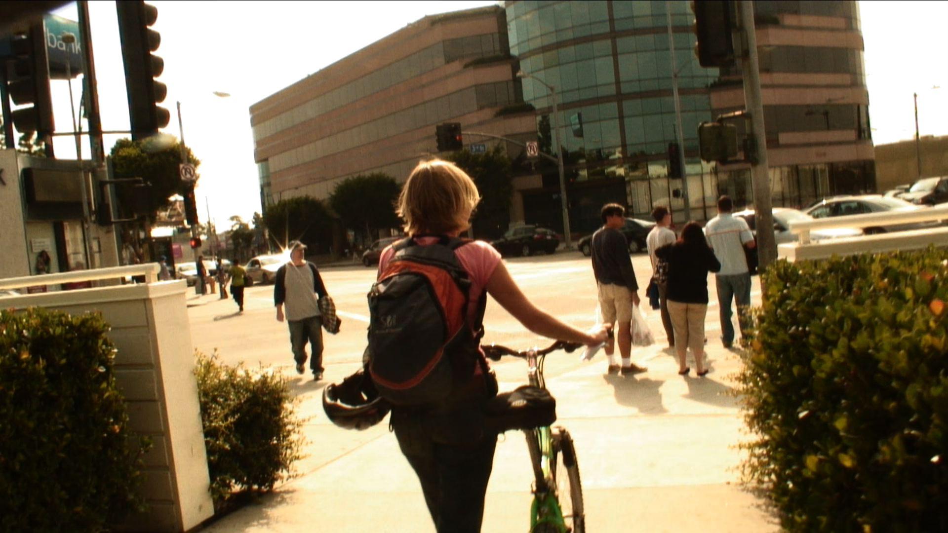 """Carless in LA - Katie """"trekking"""" Los Angeles, via bicycle!"""