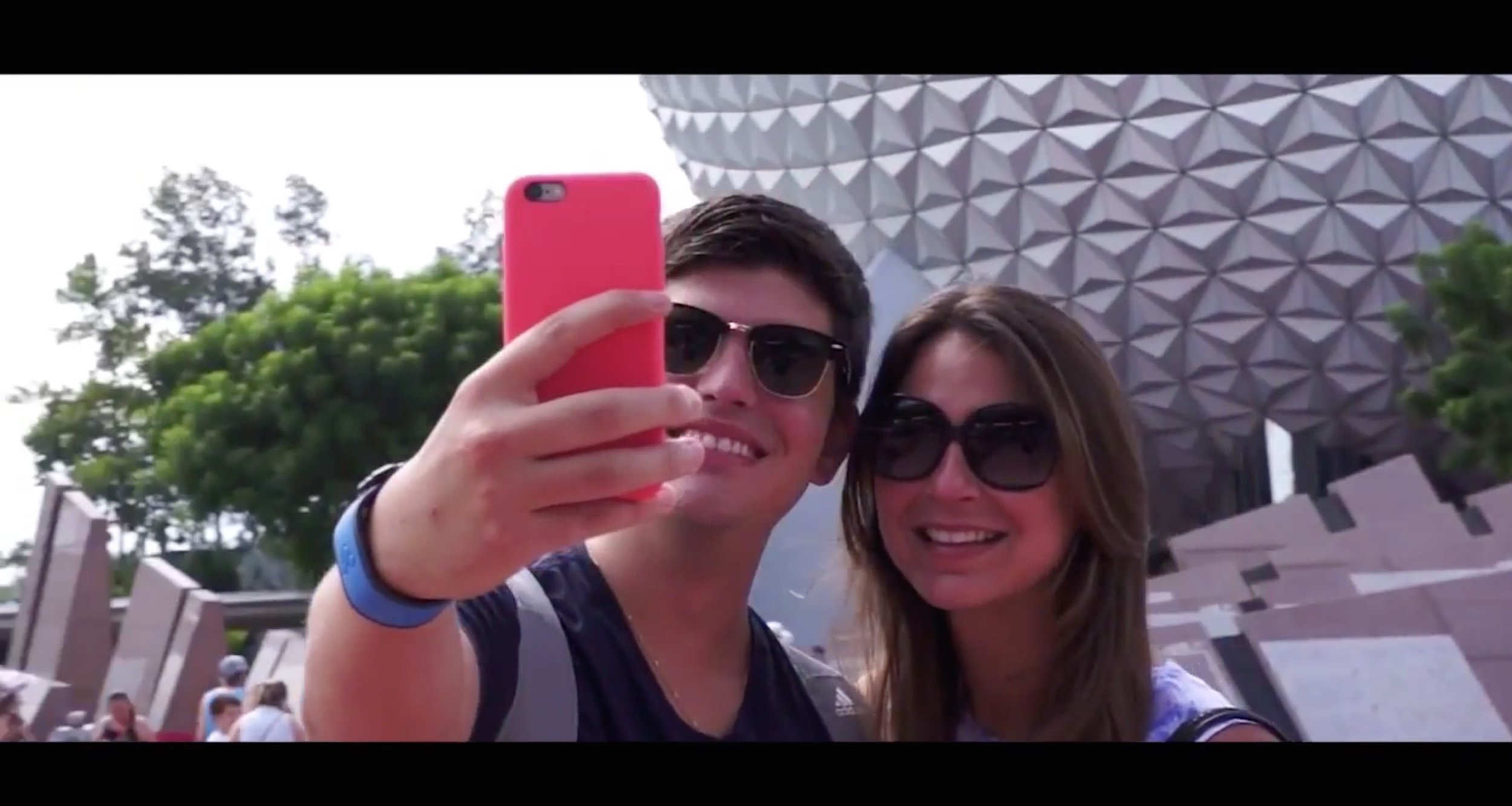 The Perfect Selfie - Happy couple taking a fun selfie at Epcot.