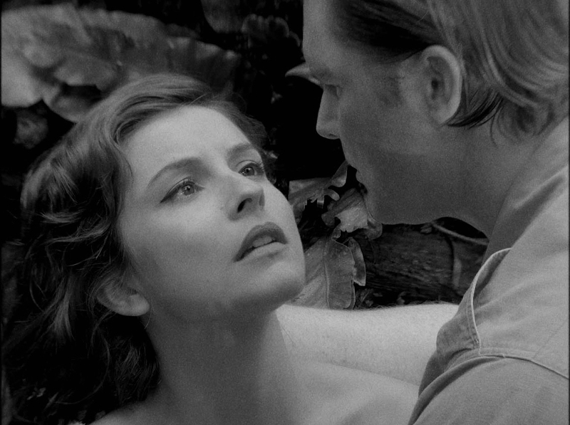 Flore Bonaventura and James Gerard in the Jungle Jenna, the film within Gorilla.