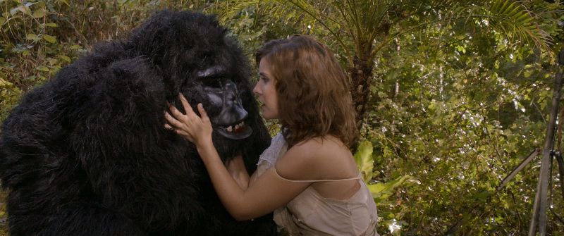 Unexpected moment between the starlet and the gorilla man.