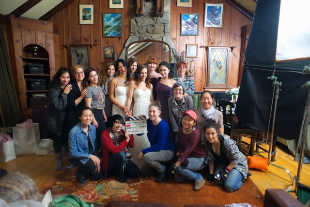 Cast and crew of Sleeping With Earrings On.