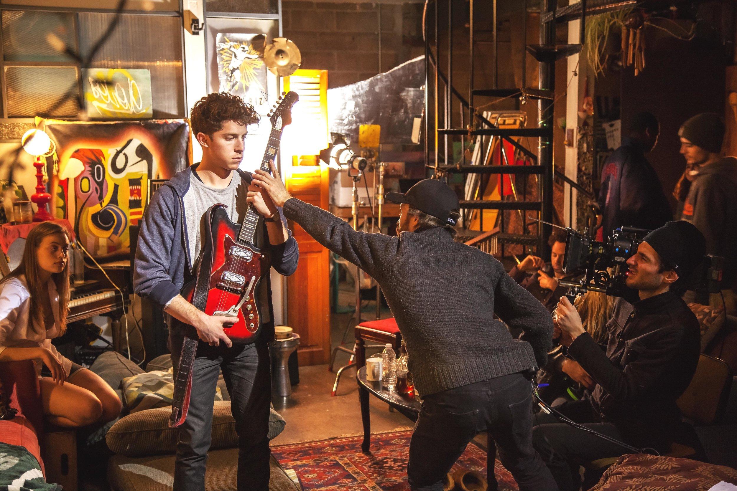Rock and a Hard Place - Felix Burgan directing actor William Hochman.