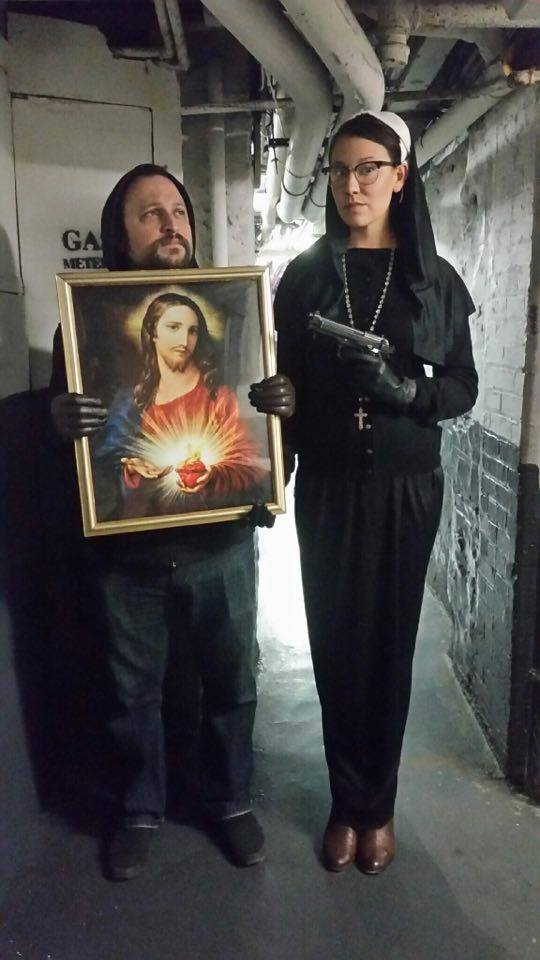 In God We Trust - Co-writer on the left Matt Raimo and actor and producer Kieran Sequoia on the right.