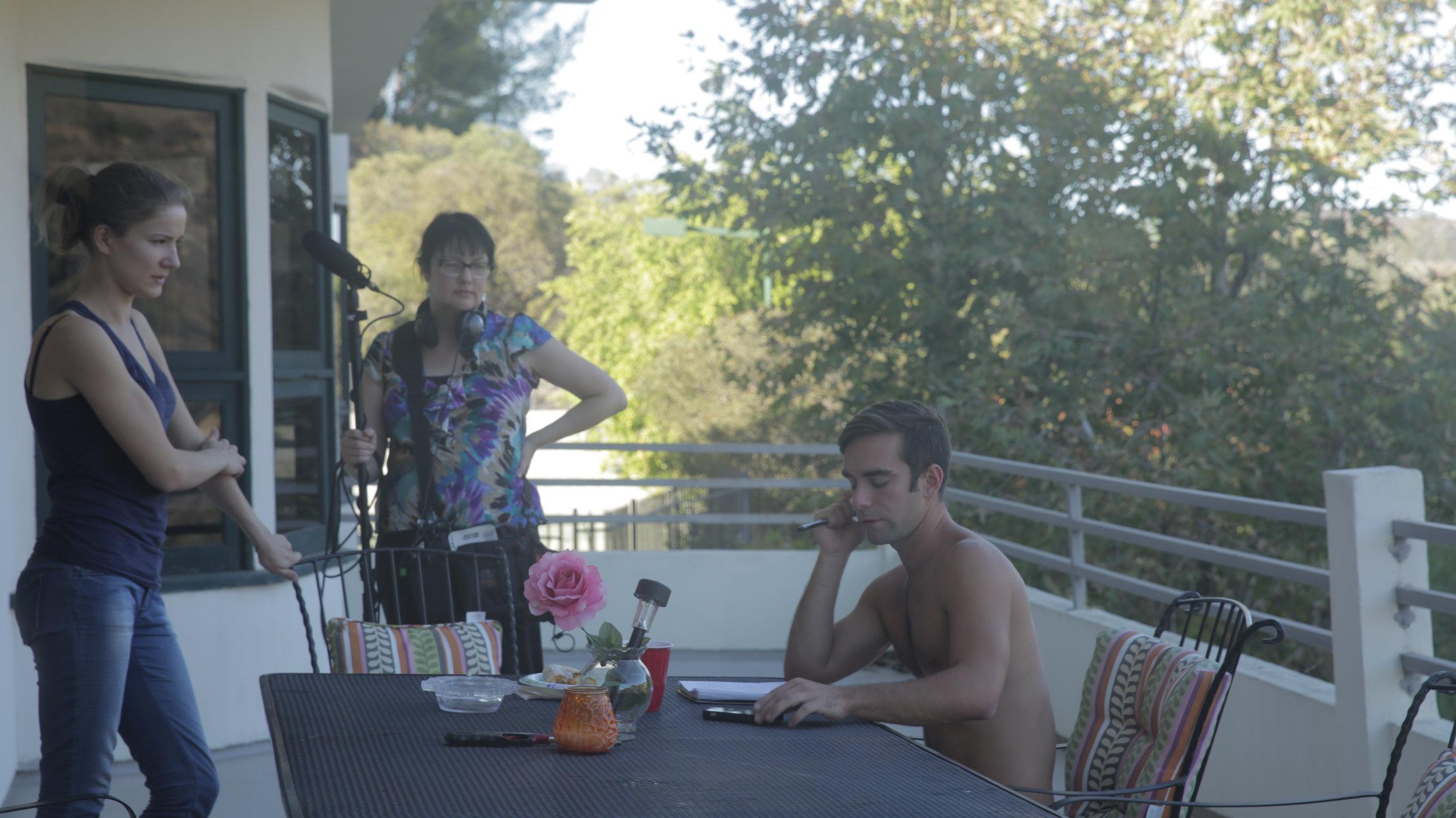 Love In Porn - Behind The Scenes: Director/Producer Kseniya Yorsh at left.