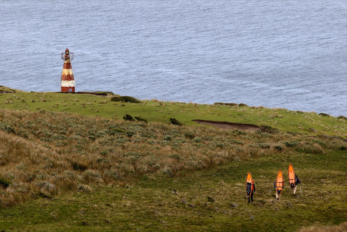 Peninsula Mitre -Walking towards the San Pio Lighthouse, the most southern point in Argentina