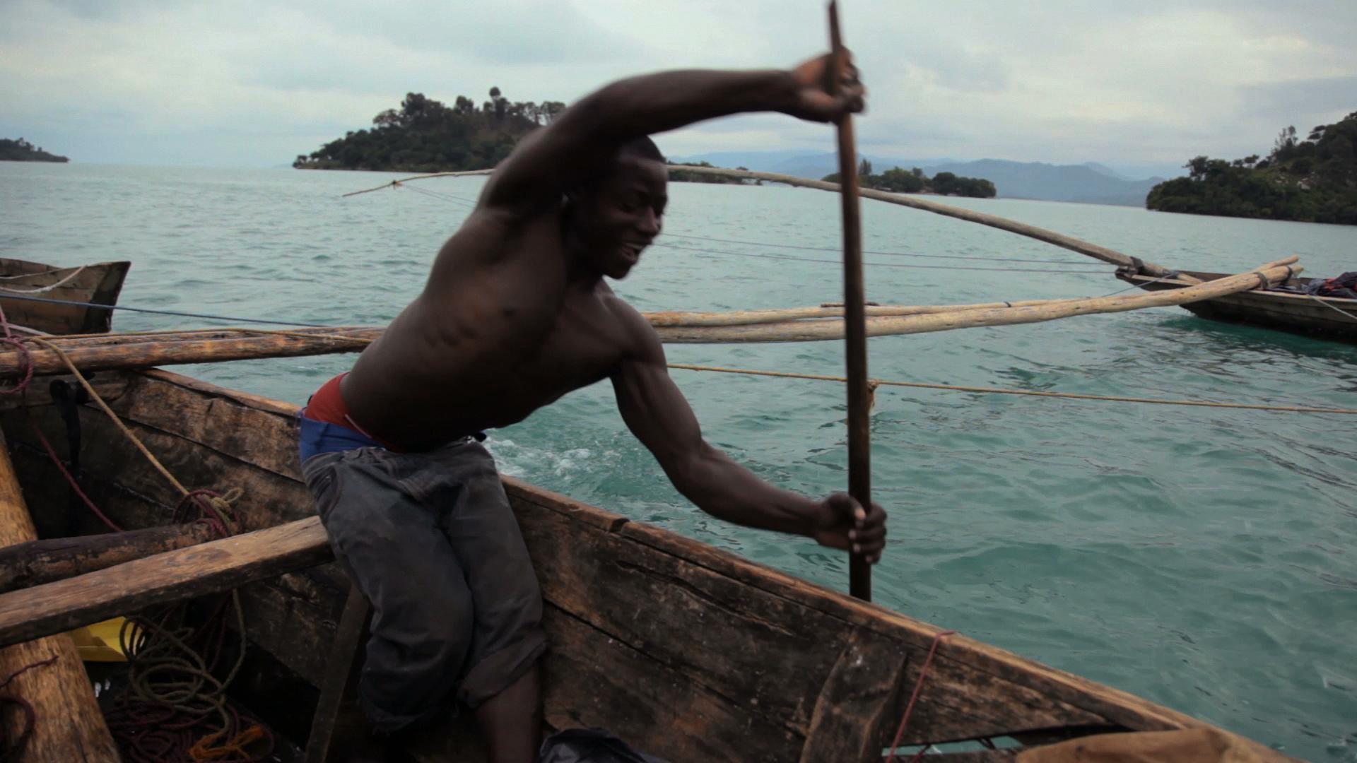 Sacred Water - Fisherman on the shores of the Kivu Lake, near Kibuye.